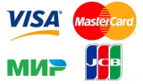 Images of payments card. MIR, VISA, MASTERCARD, JCB